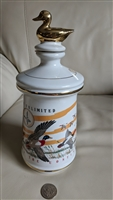 Ducks Unlimited Old Cabin Still 1972 porcelain jar