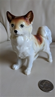 Large porcelain Papillon dog figurine decoration