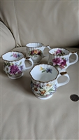 Staffordshire Elizabethan English Garden mugs cups
