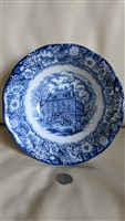 Staffordshire Historic Colonial Scenes large bowl