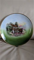 German porcelain wall decor plate hand painted