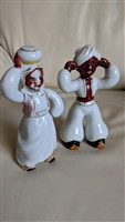 Middle Eastern style Japanese porcelain figurines