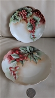 Bavarian porcelain plates fruit painted decoration