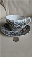 Hunter by Myott English porcelain teacup saucer