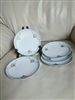 Blue and white 6 inch Meito China porcelain plates