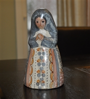 Vintage clay Nun figurine