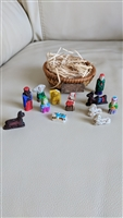 Miniature clay carved Nativity Set Vietnam