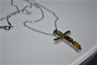 Sterling and Baltic Amber cross necklace.