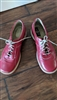EKSBUT Italian red leather women shoes sz 38 EU