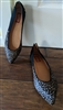 Halogen leather black charcoal ballet flats sz 8