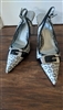 GUESS LOGO kitten heel pointy toe shoes sz 7.5