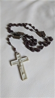Joyful Mysteries plastic beads and cross rosary