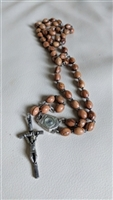 Olive Wood Aqua Jordanis rosary with INRI cross