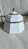 Art Deco Octagonal NIPPON sugar bowl gold accent