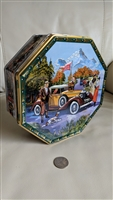 Jacobsens Denmark 3D classic cars tin design