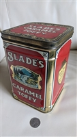 Caramel Toffy Slades large lidded tin 1950