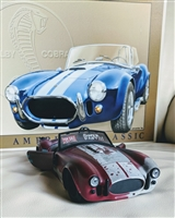 Shelby Cobra diecast 1/24 and 1966 Shelby tin sign