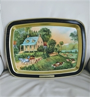 American Homestead Summer Currier and Ives tray