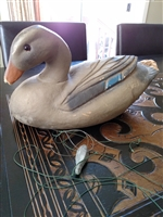 Paper mache decoy duck by Lititz for repair