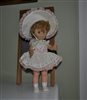 Hard plastic doll with rubber head marked U