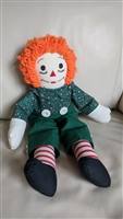 Raggedy Andy knickerbocker green pants cloth doll