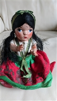 Mexican composition doll tourist souvenir Ethnic