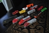 Rivarossi, Bachmann, Tyco Locomotives and railroad carts set, 13 pieces.