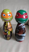 Teenage Mutant Ninja Turtles bowling pins plastic