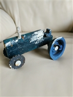 Folk Art primitive cast iron tractor toy farmhouse