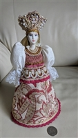 Russian 10 inch cone doll in Folk costume