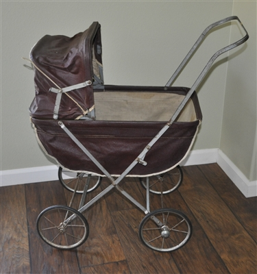 Welsh easy fold doll carriage