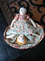 TOPSY TURVY two sided rag doll