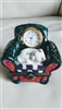 Porcelain trinket watch Cat in the armchair Japan