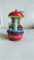 Tall New York city Big Apple trinket jewelry box