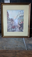 O. Coleman LA streets framed print wall decor