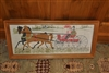 Vintage needlework horse carriage ride wall decor