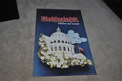 United Airlines Washington DC poster 1973 aviation