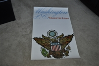 Washington D C Airlines poster with Eagle