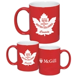 Red & White C-Handle Mug - 11 oz.
