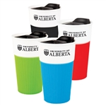 Bistro Ceramic Tumbler with Silcone Sleeve - 13 oz.