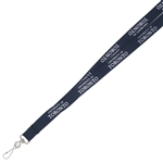 "5/8"" Screen Printed Lanyard - Tubular"