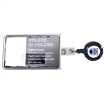 Deluxe Carbonate I.D. Holder with Badge Reel