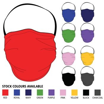 Defender Reusable Mask - 2-Ply (Solid Colour)