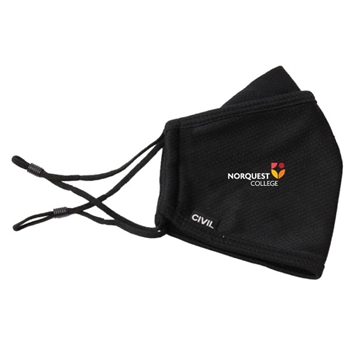 3 Layer Civil Mask with Full Colour Heat Transfer - Adjustable Straps
