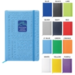 Large Neoskin Hard Cover Journal with Full Cover Deboss & Full colour Dome