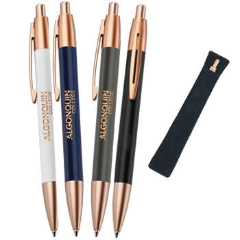 Rosie Metal Pen with Velvet Sleeve
