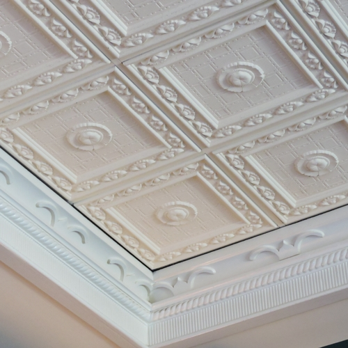 Victorian Poppy | Traditional Ceiling Tile | Ceiling Tile Install ...