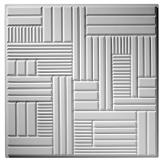 Emerald Cut Plaster Ceiling Tile