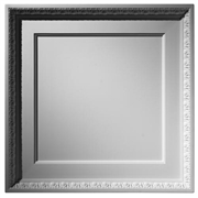 Coffered Egg & Dart Plaster Ceiling Tile