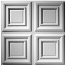 Traditional 1/4 Panel Plaster Ceiling Tile